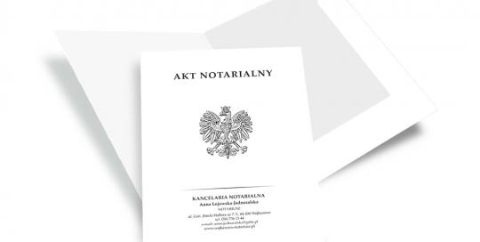 Teczka na akt notarialny
